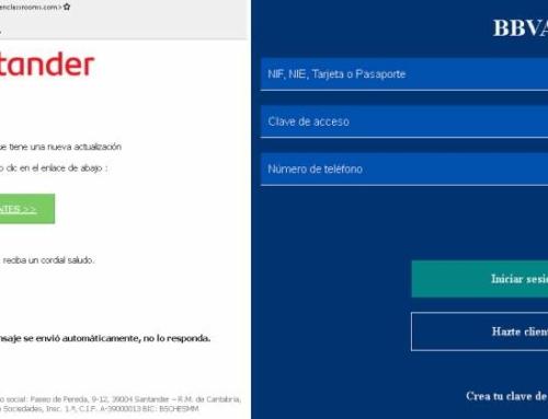 Alerta de ciberseguridad por 'mails' y SMS fraudulentos de CaixaBank, Santander y BBVA